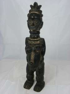 Beautiful Old African Tribal Art MENDE Figure Collectible Sierra Leone
