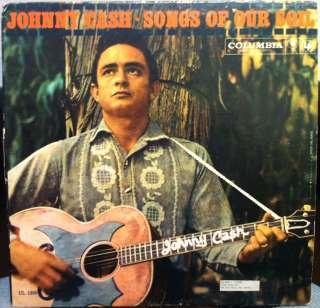 JOHNNY CASH songs of our soil LP vinyl CL 1339 VG 1959