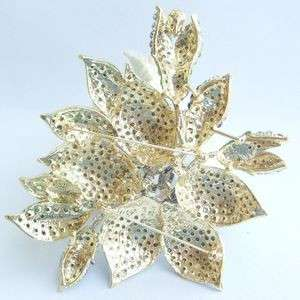 Gorgeous Orchid Flower Brooch Pin w Pink Rhinestone Crystals