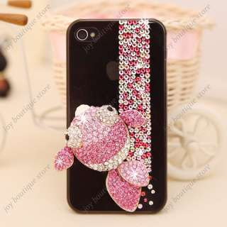 elegant pink fish crystal rhinestone Case Cover for Apple Iphone4 4S