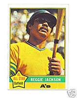 reggie jackson 1976 topps card no.500