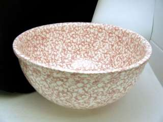 Gaetano Pottery Bowl 8 Qt Pink White Large Kitchen Mint