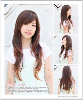 Cute Black/Brown Women Long Straight Party Hair wig J15