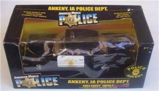 1964 Chevy IMPALA ANKENY, IA. POLICE Department ERTL 118 LE Diecast