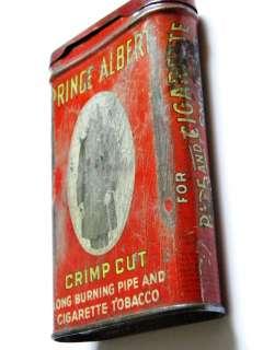 TOBACCO METAL BOX PRINCE ALBERT PIPE AND CIGARETTE