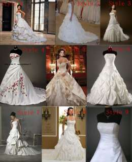 New White Ivory Champagne Wedding Dresses Bridal Gowns Stock Size6 8