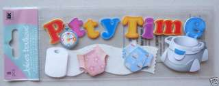 Baby18 JOLEES 3D Stickers TODDLER POTTY TRAINING TIME |