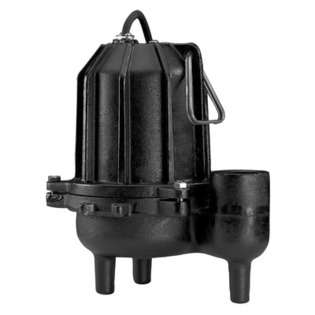 Water Systems 3/4 HP Manual Operation Cast Iron Heavy Duty Sewage Pump