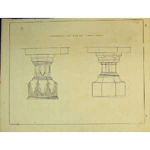 : C1899 Architectural Design English Decorated Fonts: Home & Kitchen