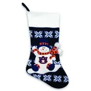 24 NCAA Auburn Tigers Knit Snowman and Snowflake Christmas Stocking