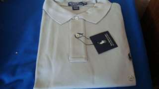 AUTHENTIC RALPH LAUREN MEN INTERLOCK POLO WHITE BLUE GRAY SHIRT BIG