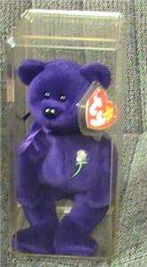 Rare Ty Princess Diana Beanie Baby Purple Bear 1st Edition 100% Mint