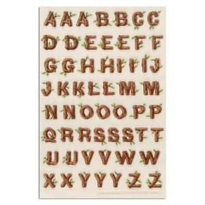 Stewart Crafts Stickers Log Style Alphabet Letters By The Package
