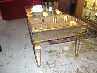 1950s MID CENTURY Hollywood Regency Mirrored Coffee Table