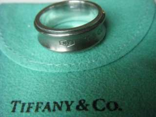 Tiffany & Co. 1837 Sterling Silver Titanium Galaxy Ring Sz 8 1/2 With