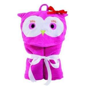 Olivia Owl Pink Bath Hooded Towel Home & Kitchen