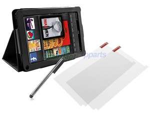 protector+ Pen + PU leather case cover w/stand for  kindle Fire