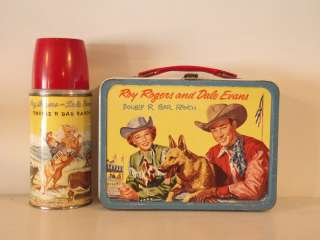 ROY ROGERS & DALE EVANS DOUBLE R BAR RANCH Lunchbox & Thermos