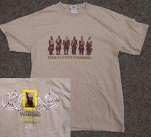 Terra Cotta Warriors China Guardians Statues Museum Art T Shirt Medium