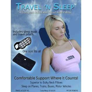 Sleep 854512001 Dual Chambered Inflatable Travel Pillow