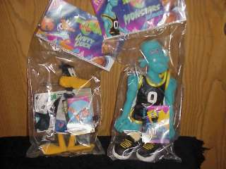 1996 WARNER BROS. MCDONALDS COLLACTABLE SPACE JAM PLUSH BLANKO AND