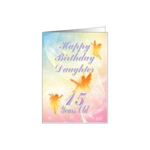 Dancing fairies Birthday card, Daughter, 15 years old Card