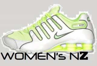 NIKE SHOX NZ WOMENs RUNNING WHITE LIQUID LIME COOL GREY BRAND NEW IN