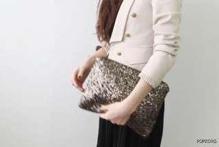 Sparkle Sequin Spangle Clutch Pouch Evening Bag Wallet Coin Purse