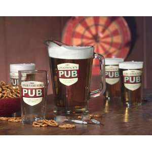 Personalized No Half Pint 20 oz Lager Glasses   Set of 4
