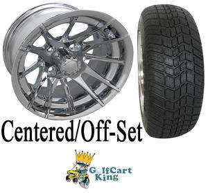RX107 Low Profile Golf Cart 12 Wheel and Tire Combo