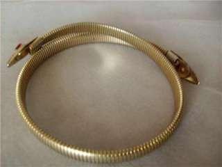 Vintage Rattle Snake Red Rhinestone Choker Necklace