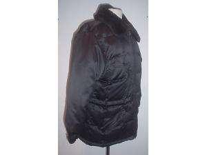 Andrew Marc black shiny down filled jacket coat M