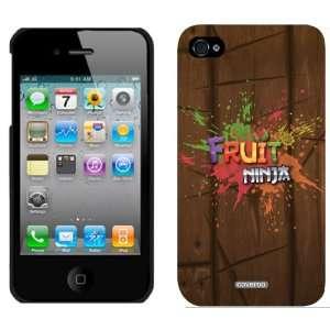 Fruit Ninja   Logo Splash on Wood design on iPhone 4 / 4S