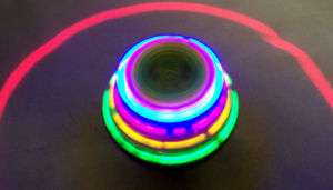 GLITTER LASER SPIN TOPS spinning lightup top SPIN toy