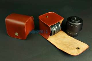 Genuine Real Cow Leather Camera case bag cover For Nikon V1 + 10MM