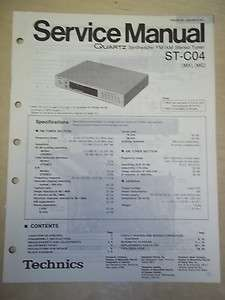 Technics Service/Repair Manual~ST C04 Stereo Tuner