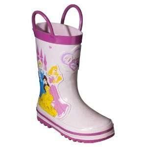 Toddler Disney Princess Size 5 Girls Rain Boots Shoes   Pink (BOTTOM