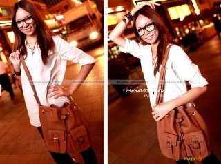 Women Fashion Vintage Bucket Crossbody Shoulder Bag 4 Colors New