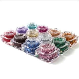 12 color hexagon uv gel nail art for uv lamp pen R300