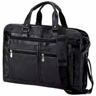 Embassy Genuine Black Leather Attache Case