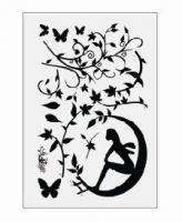 DIY Butterfly Tree Girls Wall Stickers / Wall Decals Vinyl Art Decal
