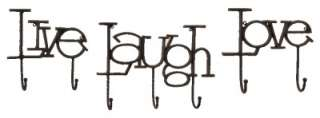 Imax Inspirational Live Laugh Love Wall Hooks set of Three