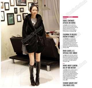 Women's New Fashion Hoodie Down Warm Outerwear Cardigan Jacket Coat