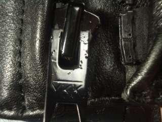 Mint Padded Black Leather Motorcycle Cafe Racer Jacket 46
