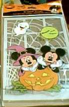 DISNEY MICKEY MOUSE HALLOWEEN GEL WINDOW CLINGS NIP #1