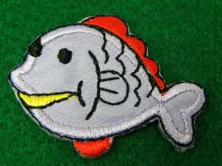 PCS CRAPPIE FISH GAME IRON ON PATCH EMBROIDERED I245