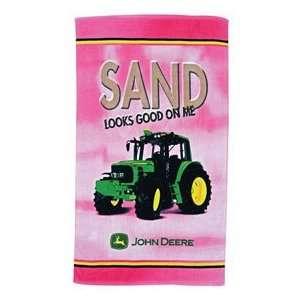 John Deere Pink Sand s Good Beach owel Home