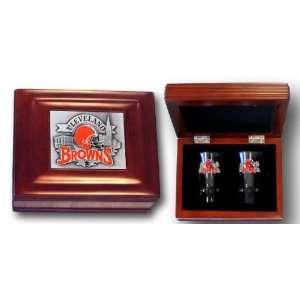 Cleveland Browns Collectors Gift Box with Two Flared Shooters