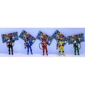 Power Rangers RPM Figures With Keychain 5 Piece Set   Banpresto Japan