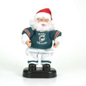 Miami Dolphins NFL Animated Rock & Roll Dancing Santa (12)